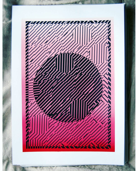 B/W + Gradient Screenprint by Katy Binks