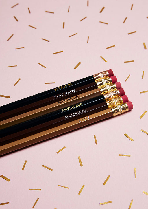 Coffee Pencils Set