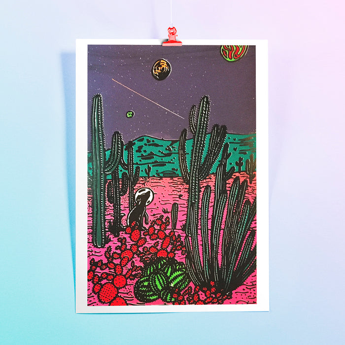 Space Dog Screenprint
