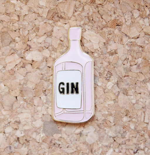PINK GIN PIN BADGE