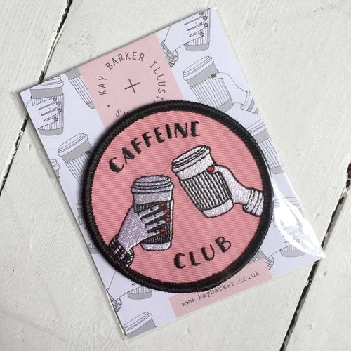 CAFFEINE CLUB EMBROIDERED PATCH