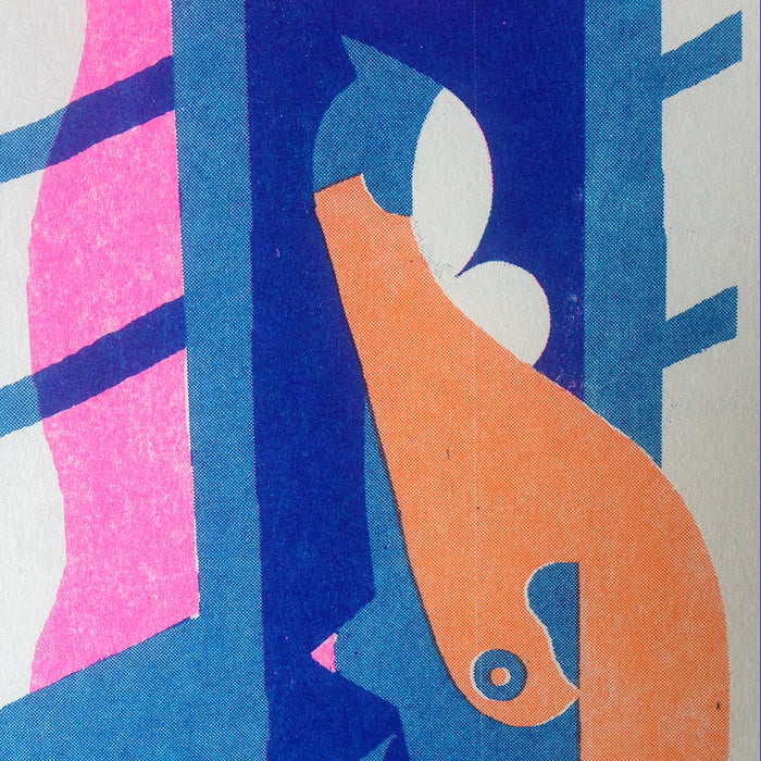 'Two Women' Three-Color Risograph