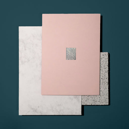 Pink and Silver Valentines Card 'XOXO' – Eco-friendly recycled stock