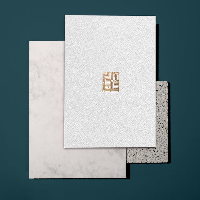 Luxury Christmas Card Noel With Gold Foil Department Store