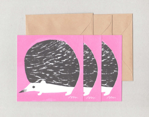 Hedgehog square card set