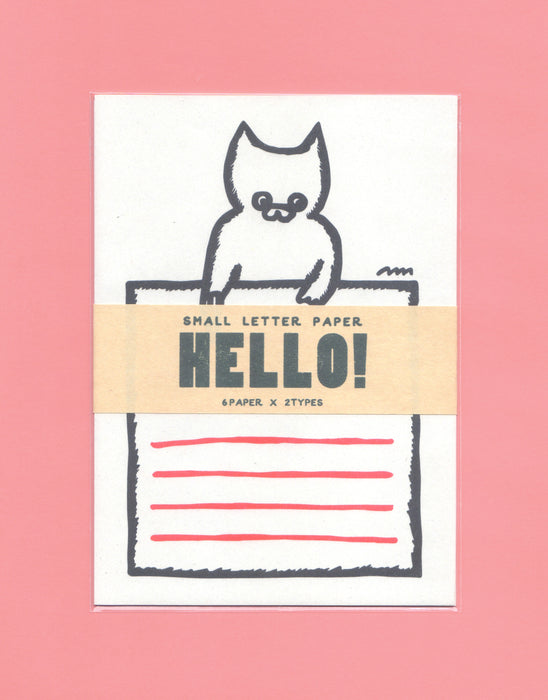HELLO! cat small latter paper