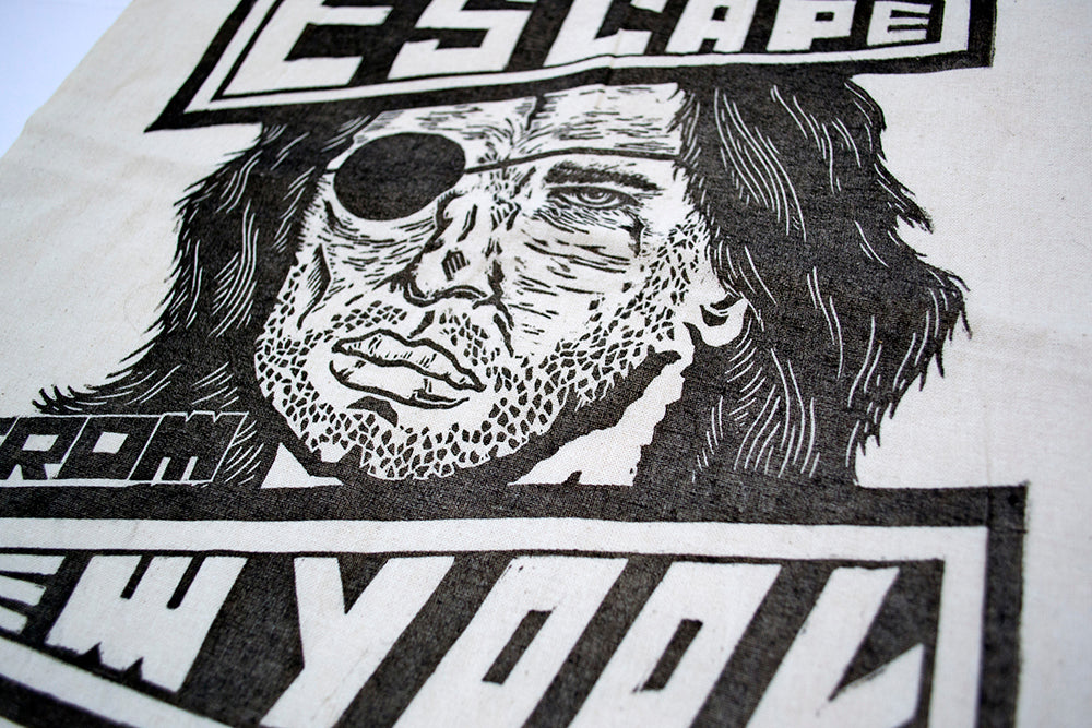 Escape From New Lino Print York Tote Bag