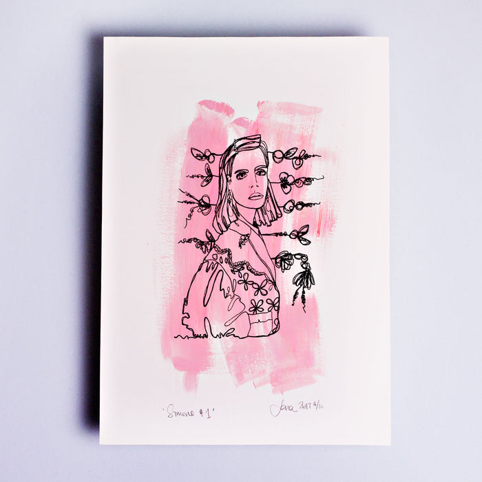 Simone #1 Hand Painted Hand Finished Limited Edition Screen Print