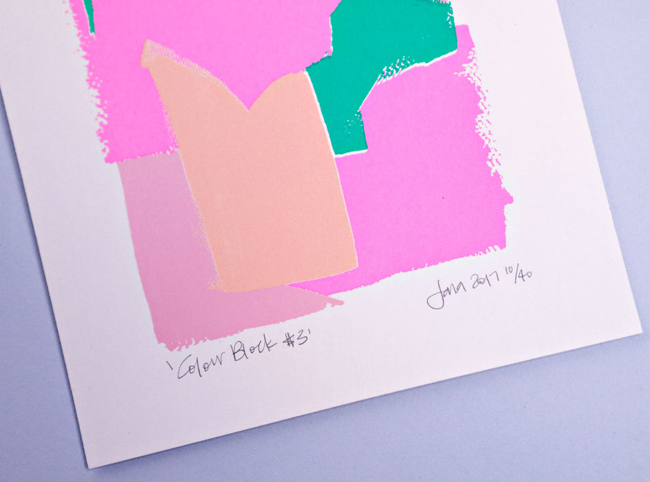 Colour Block #3 Limited Edition Screen Print