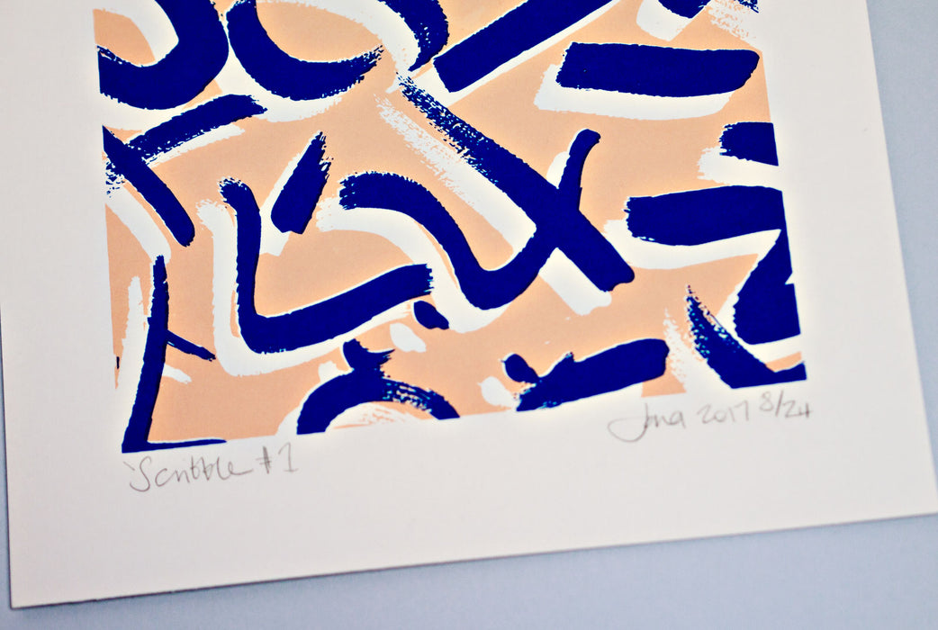 Scribble #1 Limited Edition Screen Print