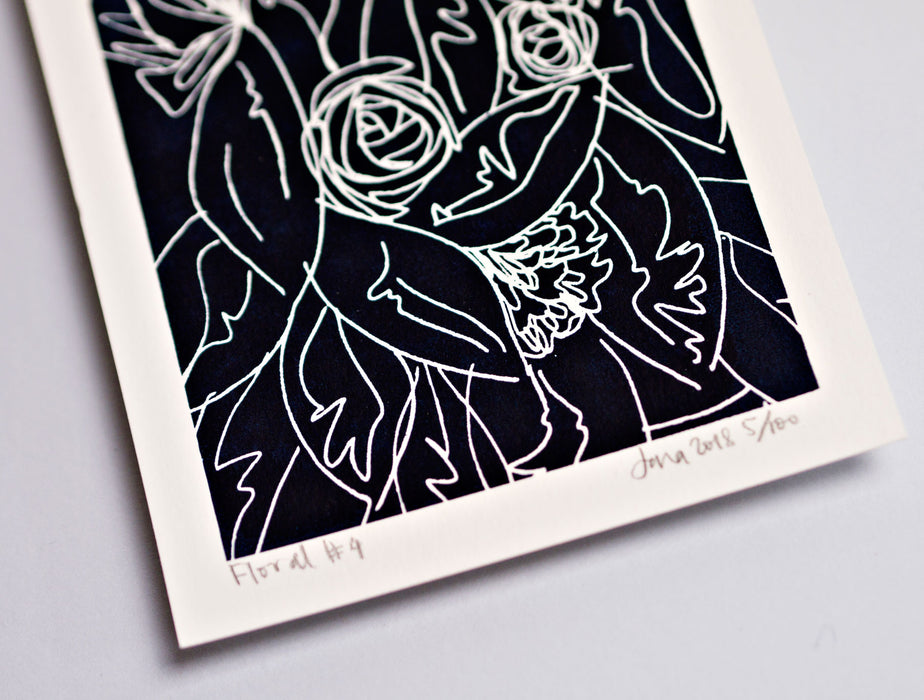Floral #4 Mini Limited Edition Screen Print
