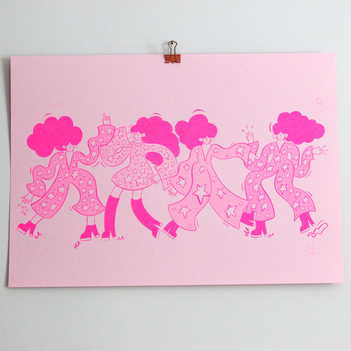 Diva Line Up - A3 Risograph Print