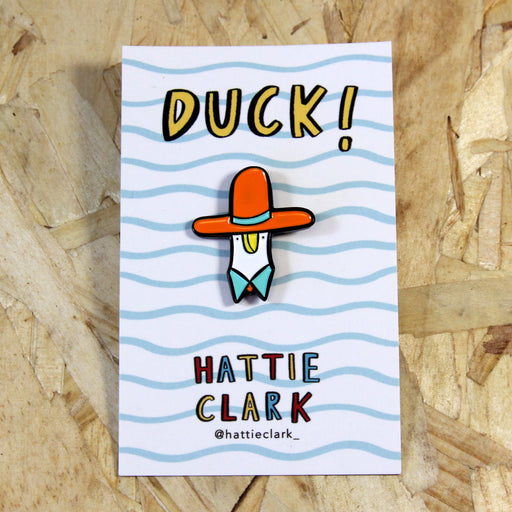 Duck! Sombrero Hat - Enamel Pin
