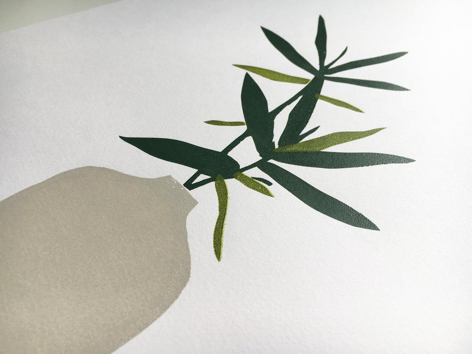 Botanical Vase Limited Edition Original Screen Print