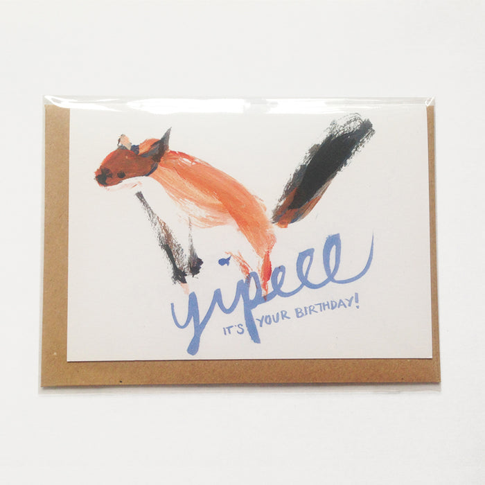 Stoat birthday card