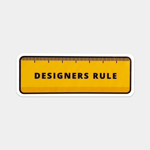 Designers Rule Stickers - Pack of 5