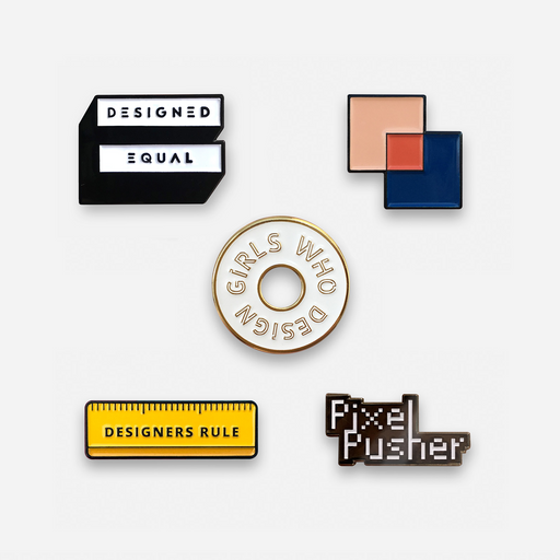 Set of 5 - Design Pins