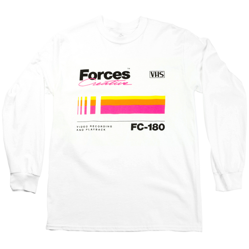 Forces Creative VHS White Long Sleeve T-Shirt