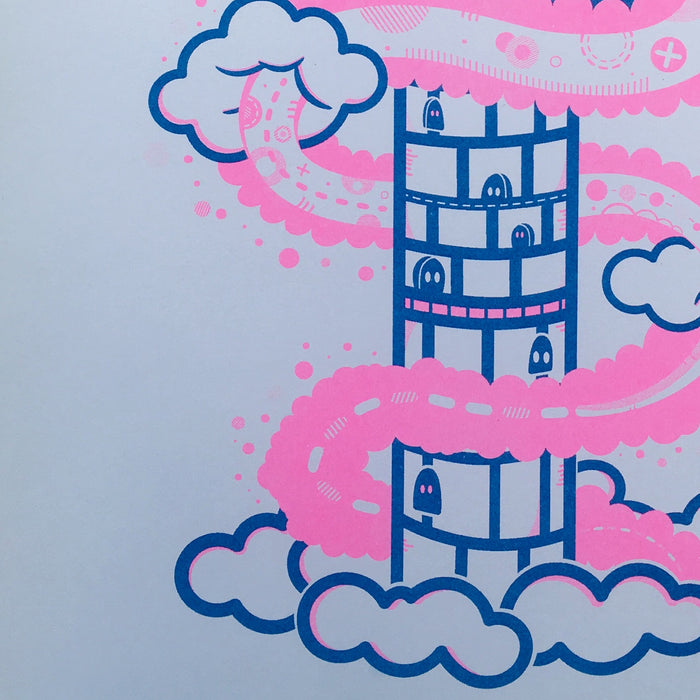 King Kupo Risograph -  Fluorescent Pink Edition