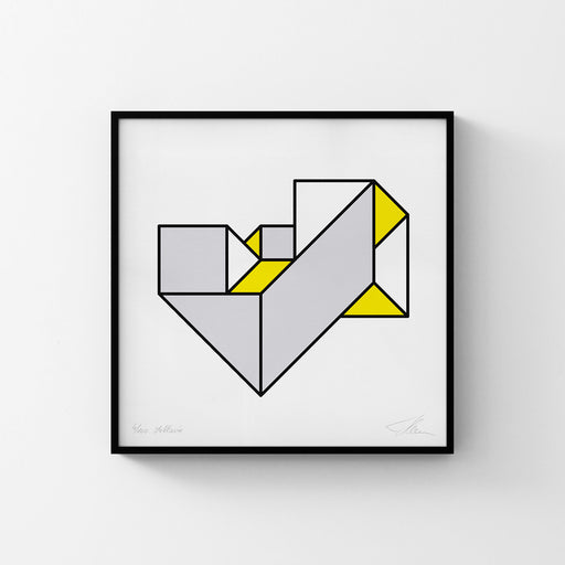 Strangely Folded Geometry No. 1 (Grey/Yellow)