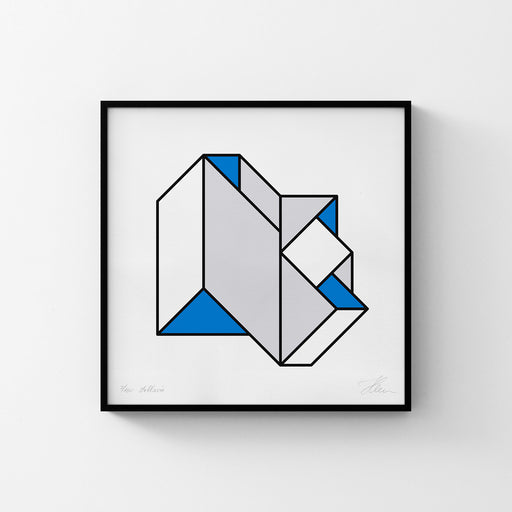 Strangely Folded Geometry No. 3 (Blue/Yellow)