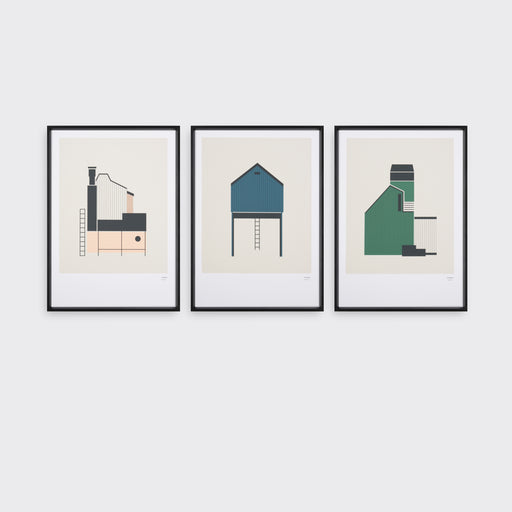 Tin Sheds Screen Print Set A3