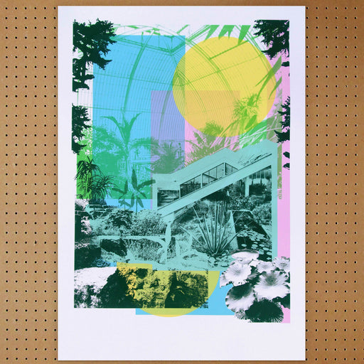 """ Kew Gardens "" Screen Print by Caitlin Parks, Underway Studio"