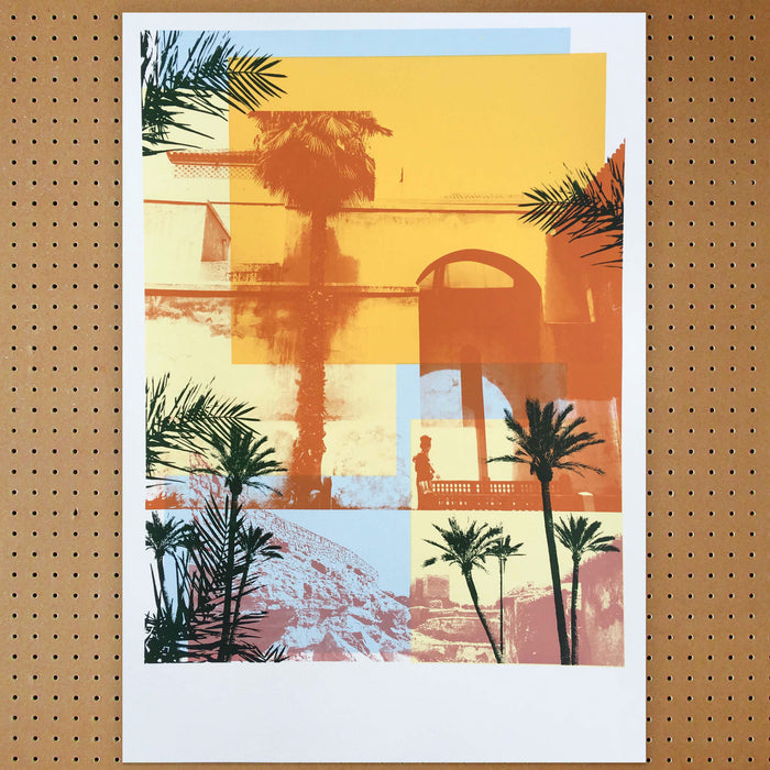 """ Moroccan Haze "" Screen Print by Caitlin Parks, Underway Studio"