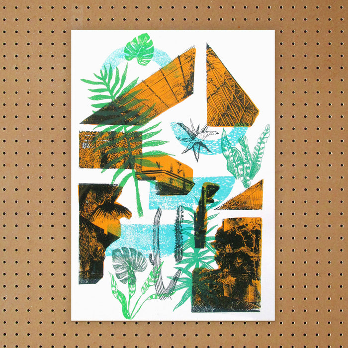 """ Barbican Conservatory "" Screen Print by Melissa North, Underway Studio"