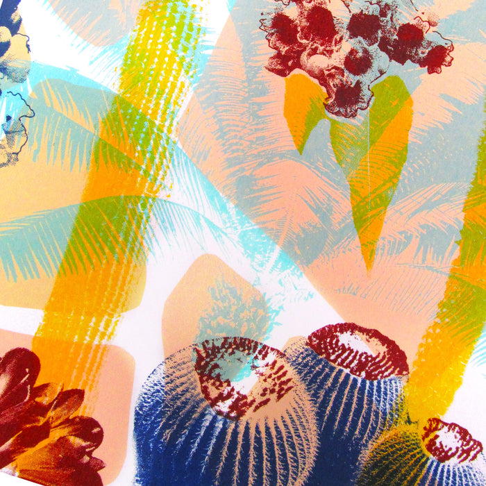 """ Tropical Flowers "" Screen Print by Melissa North, Underway Studio"