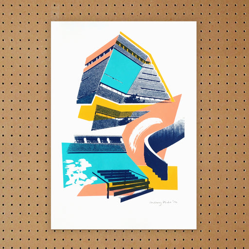""" Blavatnik Building "" Screen Print by Underway Studio"