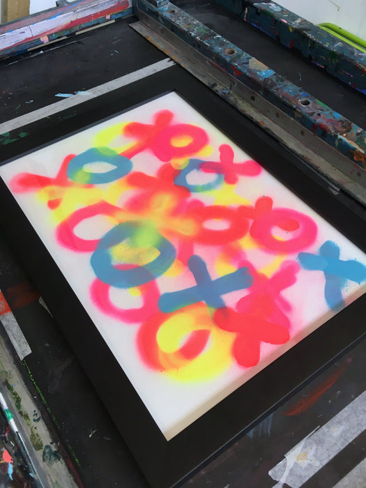 Messy #1 - Spray Paint Print