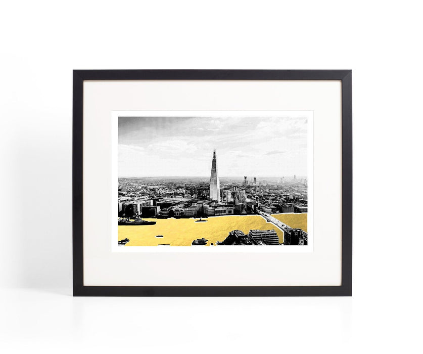 The Shard Metallic Gold River Print