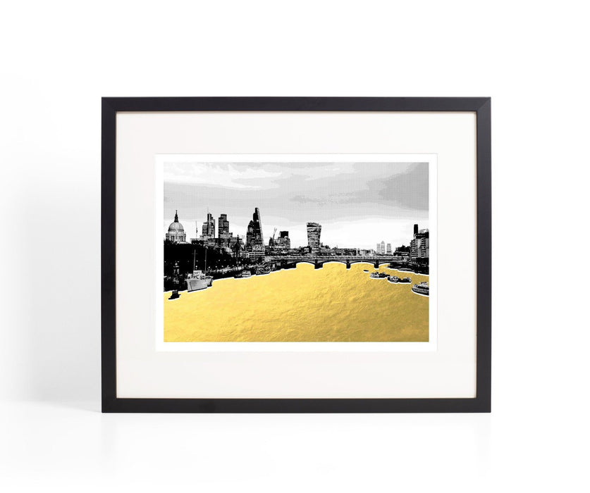 The City Gold River Print