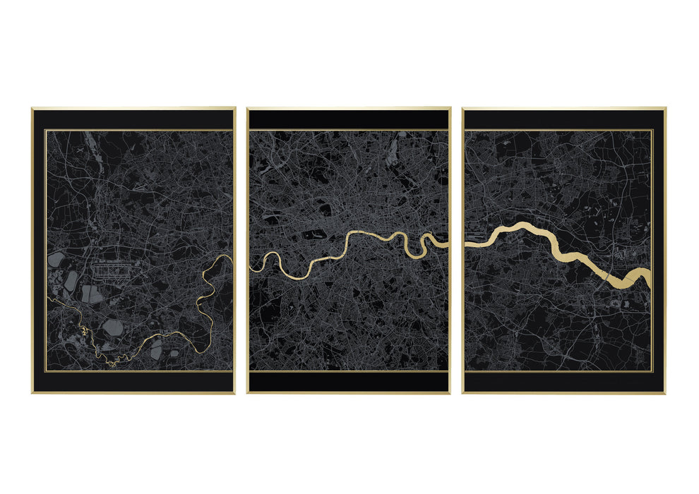 London Triptych Screen Print