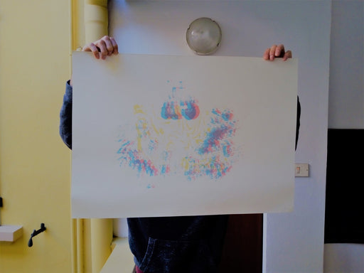 Optical Flames / 3 Layers Screenprint
