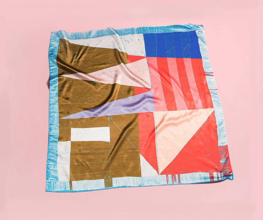 "YUMI YOSHIMOTO scarf 002 ""The perfect laundry day"""