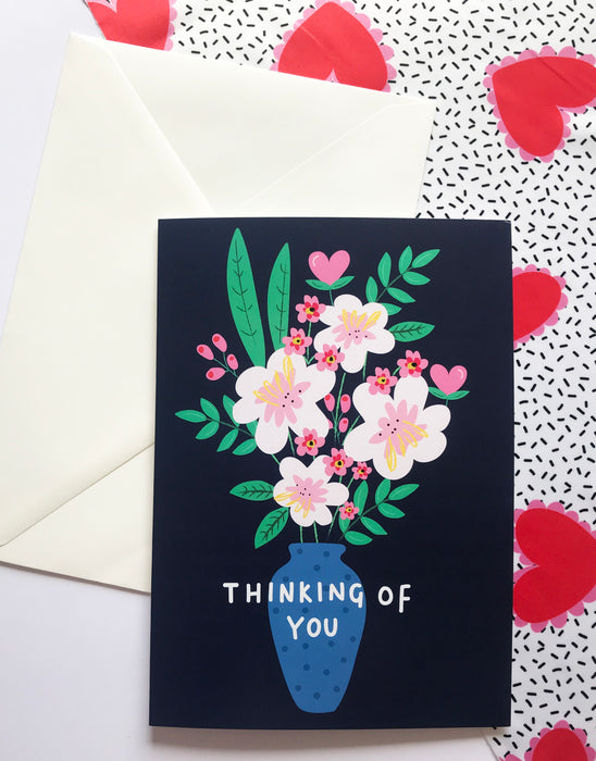 Thinking of you ~ Flower bouquet A5 or A6 Greeting card