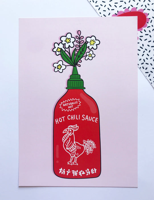 Hot Chili Sauce Print ~ A4 / A5 Digital Print