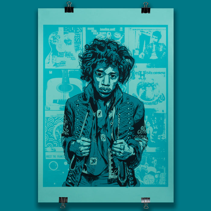 Hendrix Poster 'Turquoise Edition'