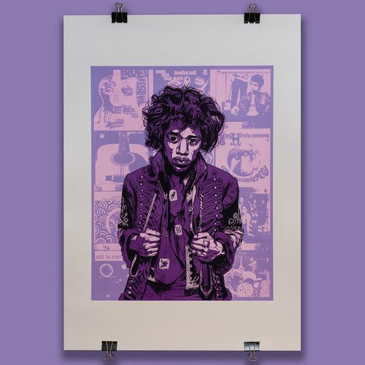 Hendrix Poster 'Purple Edition'