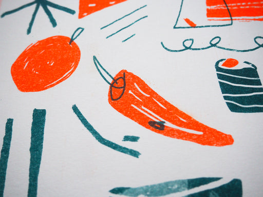 'Spicy, Spicy' Risograph Print