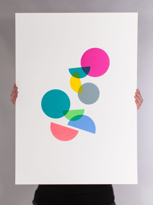 PARTY.              hand printed open edition screenprint by broniabronia. 50x70cm