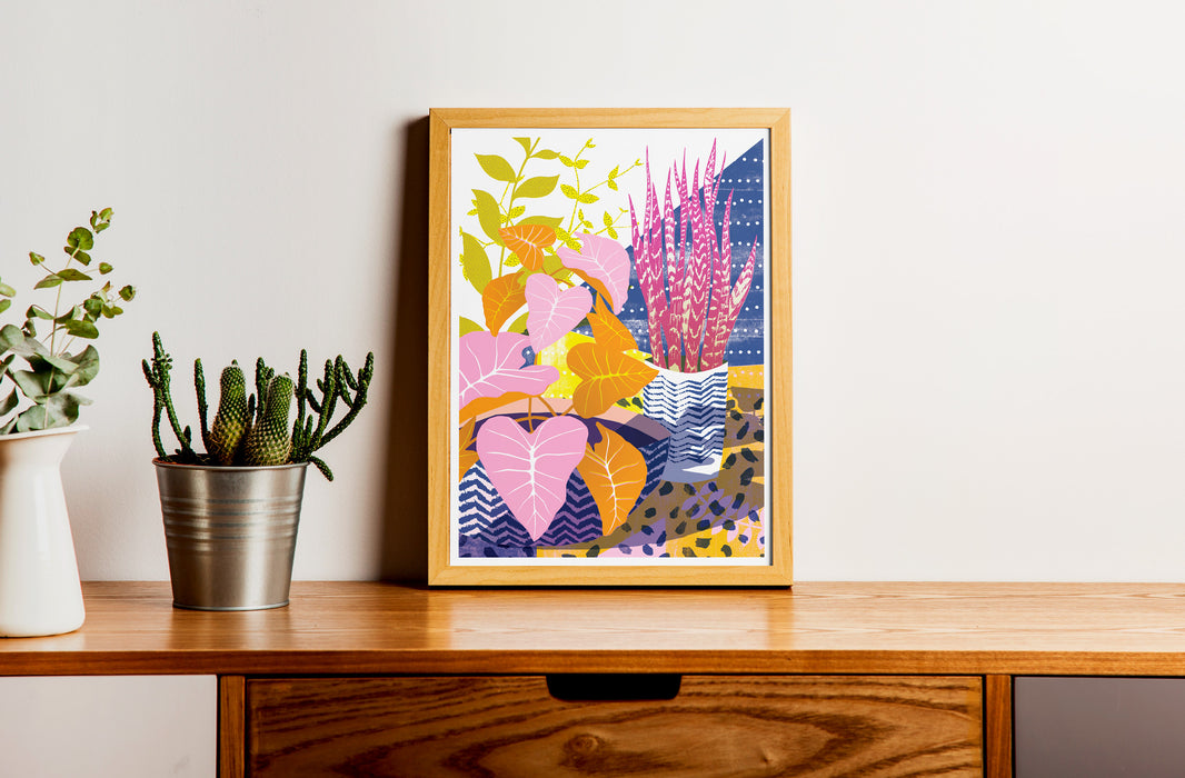 Tropical House Plants Print