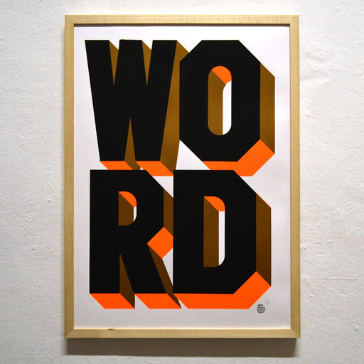 WORD UP! Screenprint