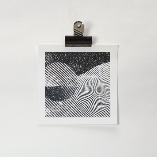 Waved Grey - Handpulled screenprint