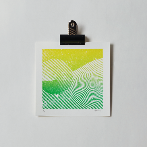 Waved Citrus - Handpulled screenprint
