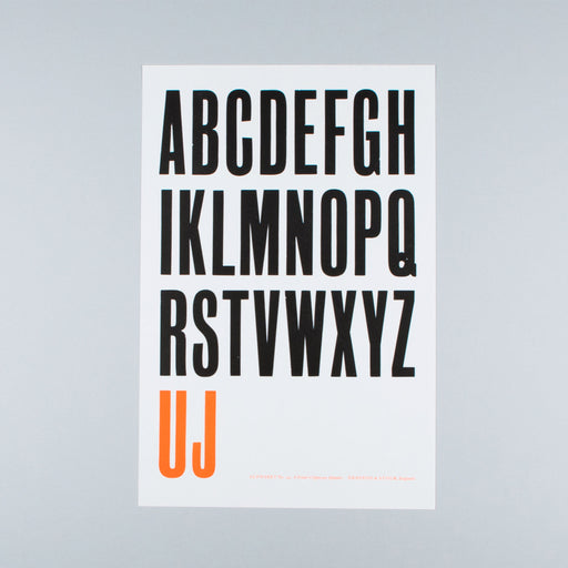 A Printer's Uppercase Alphabet (No. 24)
