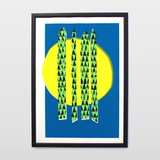Asparagus — 4 Colour Screen Print