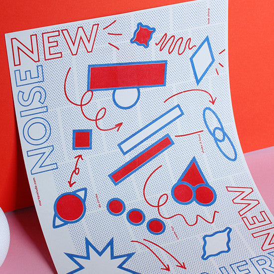 New Scenery New Noise — 2 Colour Riso Print